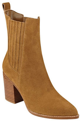 Marc Fisher Ltd Alisa Suede Booties $210 thestylecure.com
