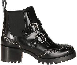 RED Valentino Eyelet Detail Ankle Boots