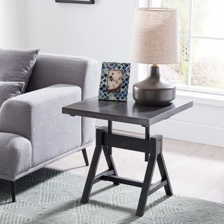 Southern Enterprises Saveni Industrial End Table, Industrial, Gray