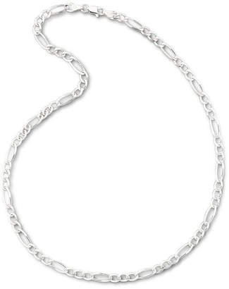 PRIVATE BRAND FINE JEWELRY Made In Italy Sterling Silver Solid Figaro Chain Necklace