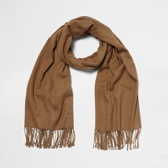 River Island Womens Light brown blanket scarf