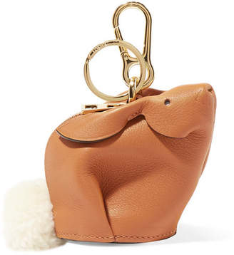 Loewe Bunny Leather Bag Charm - Tan