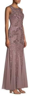 Aidan Mattox Beaded Sleeveless Gown