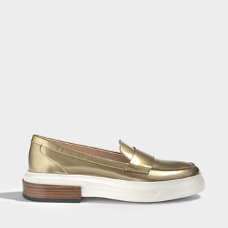 Tod's Light sole moccasins with wooden heel detail