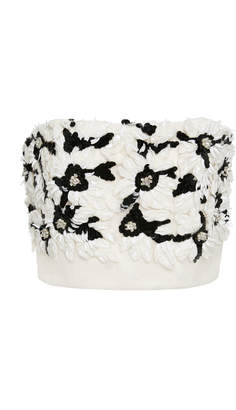 Rodarte M'O Exclusive Strapless Embellished Tulle Bustier Top