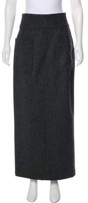 Chanel Wool Maxi Skirt