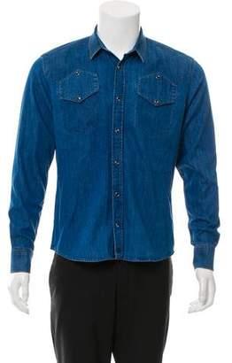 Surface to Air Button-Up Denim Shirt