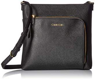 Calvin Klein Hudson Saffiano Leather Top Zip North/South Crossbody