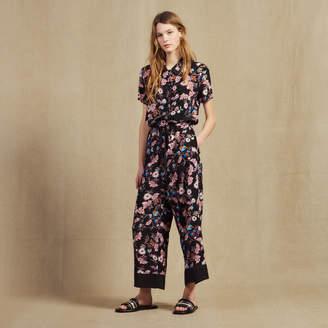 Sandro Floral Print Jumpsuit