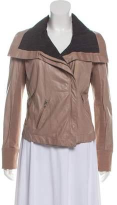A.L.C. Leather Mesh Jacket