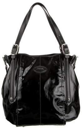 Tod's Patent Leather Satchel Black Patent Leather Satchel