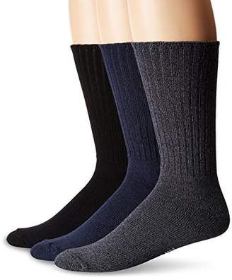Chaps Men's Assorted Rib Dress Crew Socks (3 Pack)
