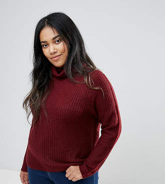 Brave Soul Plus Central Roll Neck Jumper