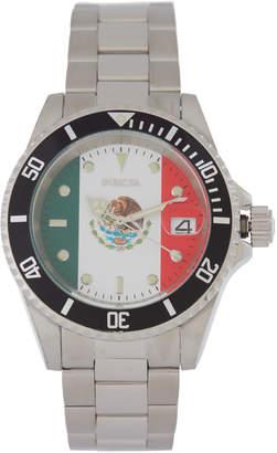Invicta 28702 Silver-Tone Mexico Flag Watch
