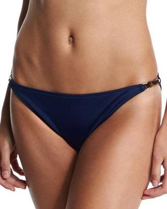 Milly Positano Solid Swim Bottom with Bar Detail $90 thestylecure.com