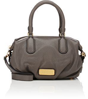 Marc by Marc Jacobs MARC BY MARC JACOBS WOMEN'S NEW Q LEGEND SMALL SATCHEL-LIGHT GREY $378 thestylecure.com