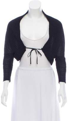 Armani Collezioni Cropped Ruched Cardigan w/ Tags