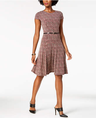 3c5ba51626d at Macy s · Jessica Howard Petite Belted Fit   Flare Dress