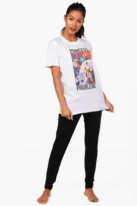 boohoo Emily Disney Princess Problems PJ Trouser Set