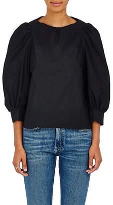 Atlantique Ascoli Women's Florentine Cotton-Linen Top - Black