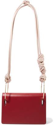 Roksanda Dia Leather Shoulder Bag - Claret