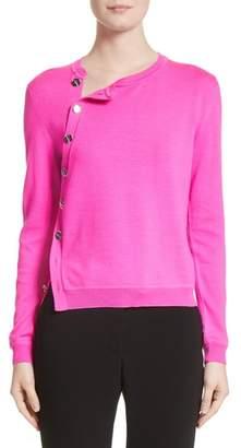 Altuzarra Button Detail Merino Wool Crop Sweater