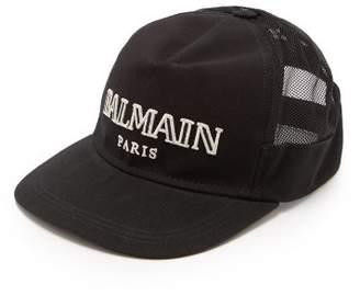 Balmain Logo Cotton Cap - Mens - Black