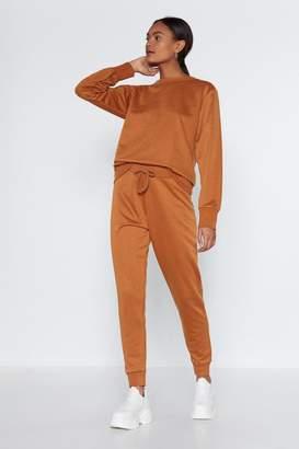 Nasty Gal Breathe Easy Jogger Pants and Sweatshirt Set