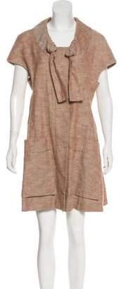 Marni Cap Sleeve Snap-Front Coat