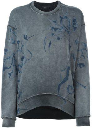 Diesel floral print sweatshirt $145.60 thestylecure.com