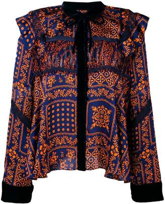 Sacai mosaic print blouse