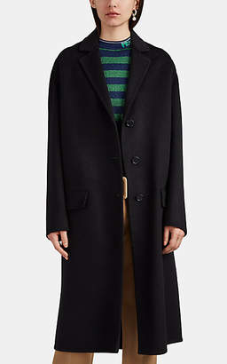 Prada Women's Brushed Wool-Blend Melton Coat - Black