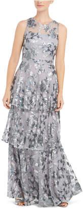 Calvin Klein Embellished Tiered Gown