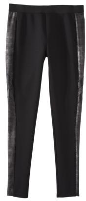 Mossimo Women's Legging w/ Pleather Detail -Black