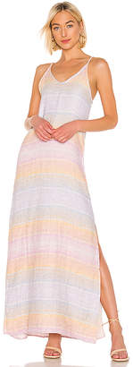 Bobi Sunset Linen Maxi Dress