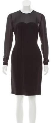 Sonia Rykiel Long Sleeve Knee-Length Dress