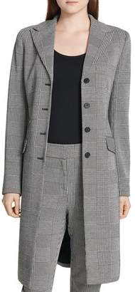 Calvin Klein Long Glen-Plaid Blazer