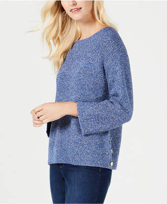 Charter Club Boat-Neck Marled-Knit Sweater