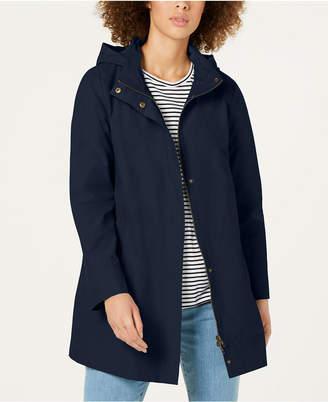 Eileen Fisher Organic Cotton Nylon Long A-Line Jacket