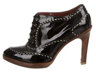 Bottega Veneta Patent Leather Lace-Up Booties
