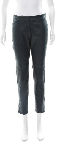 Kate Spade New York Leather Straight-Leg Pants w/ Tags