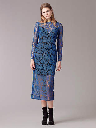 Diane von Furstenberg Long Sleeve Tailored Midi Dress