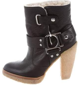 Belle by Sigerson Morrison Shearling-Lined Ankle Boots w/ Tags