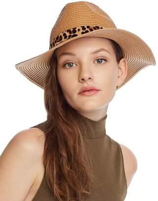 August Hat Company Leopard Print-Trim Hat - 100% Exclusive