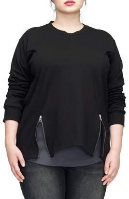 Universal Standard Corbelle Zip Hem Sweatshirt