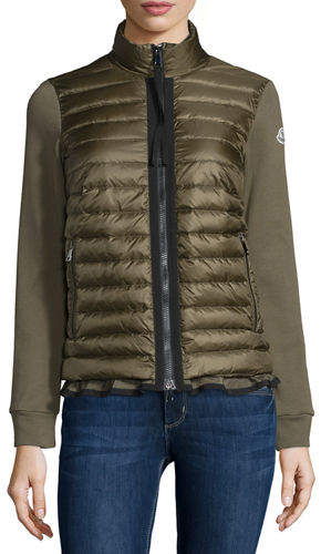 Moncler Moncler Maglia Jersey Puffer-Front Cardigan