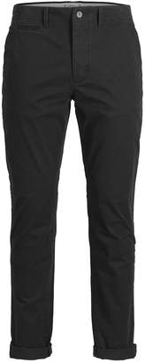 Jack and Jones Men's Classic Black Chino Pants