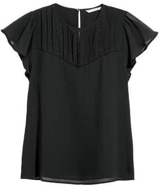 H&M Blouse with Pin-tucks - Black