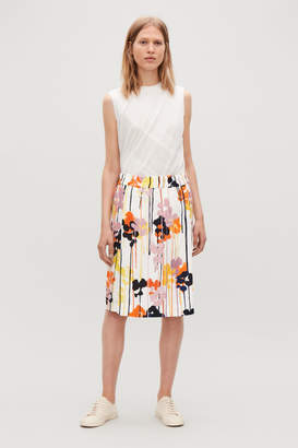 Cos FLORAL-PRINTED LINEN SKIRT