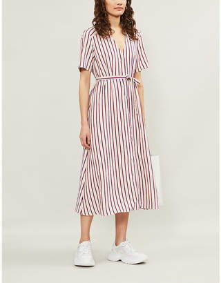 Sandro Clarence striped woven dress